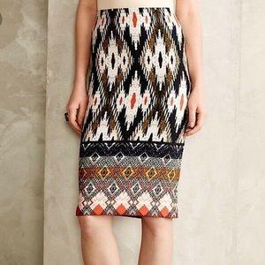Anthropologie Maeve ikat print pencil skirt